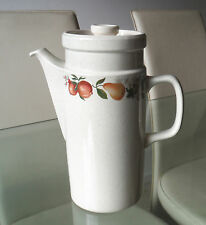 WEDGWOOD GOOD TALL COFFEE POT -QUINCE PATTERN-DISHWASHER PROOF    #