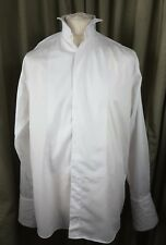 "Marks & Spencer 100% Cotton Wing Collar Dress Evening Tuxedo Shirt 16"" 41cm C42"