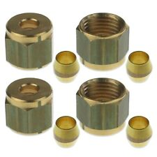 More details for 6mm pilot tube kit pack of 4 x compression nuts & olives nat lpg gas pipe tubing