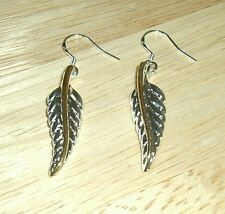 Sterling Silver Plated Feather Wire Earrings