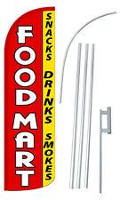 30% Wider SUPER SWOOPER FOOD MART Flutter Feather Flag Sign Banner