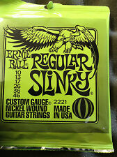 Ernie Ball Electric Guitar Strings 8 Gauges Available.Delivered by Guitars Wales