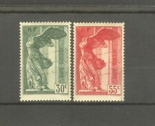 "FRANCE STAMP TIMBRE 354/55 ""VICTOIRE SAMOTHRACE LOUVRE 1937 "" NEUFS xx LUXE H608"