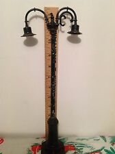 Lionel Train Accessory Double Lamp Post With Wire For Boys & Girls