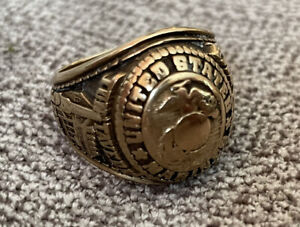 Heavy SOLID 10K GOLD USMC RING MARINE CORPS RING MILITARY US SIZE 11 17.7 Grams