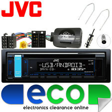 Renault Scenic 06-09 JVC CD MP3 USB Car Stereo With Steering Wheel Fitting Kit