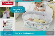 Fisher Price Stow and Go Portable Baby Bassinet Calming Vibrations GBR67 Kids