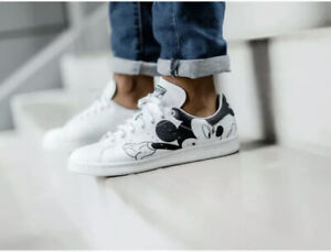 Adidas Originals Mickey Mouse Stan Smith Shoes Sneakers - Men's Unisex Size 11