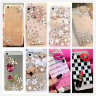 Luxury Bling Crystal Diamond Rhinestone Hard Clear Case Cover For Verious Phones