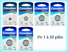 Piles bouton Camelion 3V Lithium CR2430/2450/1632/2320/2330/927/2477/2325