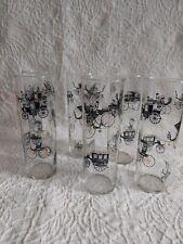 Mid Century set of 6 glasses cars