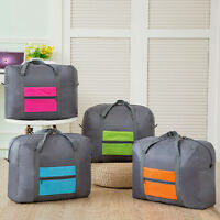 Big Foldable Travel Storage Luggage Carry on Organizer Hand Shoulder Duffle Bag-