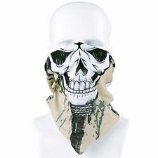 Multi-use Balaclava Headband Cap Neck-warmer Tube SNOOD FACE MASK Ghost Skull #b