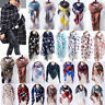 Women Lady Tassel Square Scarves Printed Winter Shawls Scarf Neck Wrap Lot