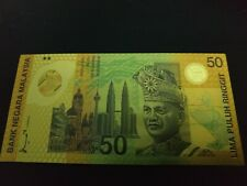 Malaysia Commonwealth Commemorative Gold Foil 50 Dollar Note
