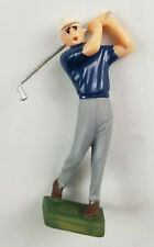 Vtg Wilton Chicago Cake Top Decoration Hong Kong - Male Blue Golfer