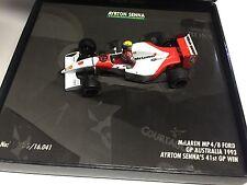 Minichamps 1993 Senna McLaren MP4/8 Ford #8 GP Australia 41st Win Box 1:43 MIB •
