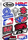 1 sh. hrc pro honda vp suzuki yamaha racing vinyl decal sticker die cut bike