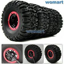 4pcs RC air pneumatic Tires & 2.2 Beadlock Wheels & Air Pump For RC 4WD Crawler