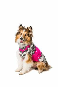 Hot Pink Ski Wool Sweater Chilly Dog  Knit Wool  XXS-XXXL Pet Puppy Warm Winter