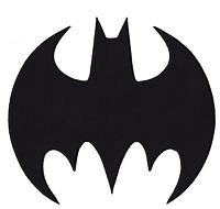 Official DC Comics Batman X-Large Logo Embroidered Iron On Applique Patch