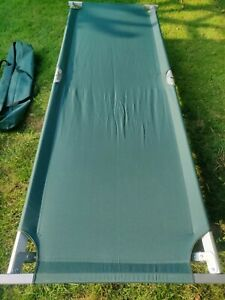 Heavy Duty Military Folding Camping Cot Bed Mats Outdoor Hiking Aluminium Steels