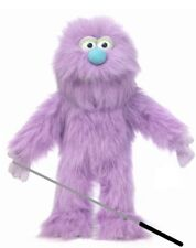 Silly Puppets Purple Monster Glove Puppet Bundle 14 inch with Arm Rod