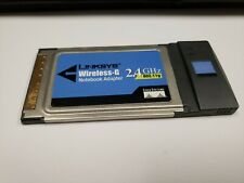 Linksys Wireless-B Pcmcia Notebook Adapter Model Wpc54G Ver 2, Used, Untested