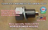 12mm MAGNETIC OIL DRAIN PLUG @ 04-21 DUCATI 749R 848 999R 999S 1098 MONSTER more