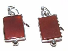 agata corniola orecchini - carnelian earrings silver 925%