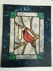Stained Glass Cardinal Quilt Pattern #106 Touch of Love 1998 Gwen Lundgren