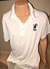 MIAMI HEAT MUNSINGWEAR Perry Ellis Men's White Polo Collared Shirt Large B9