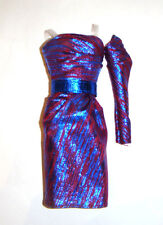 Barbie Fashion Colored Metallic Dress For Model Muse Dolls fn785