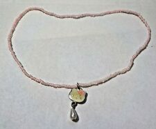 Hello Kitty & Faux Pearl Pendant On Pink Bead Stretch Necklace - SANRIO