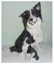 Border Collie Sheep Dog Ornament Figurine Stalking 18cm Sheepdog