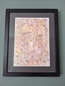 Charles Bronson Hand Drawn Hand Signed Original Art (NOT PRINT)