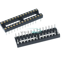 10PCS 28Pin DIP SIP Round IC Sockets Adaptor Solder Narrow Type