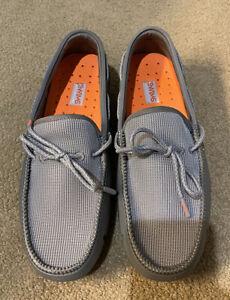 NIB $165 SWIMS Mesh Loafers   Gray, US 8D