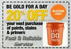 Home Depot 20% Off Paints, Primer, Stain via eBayMsg IN STORE USE! FAST***