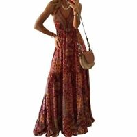 Dresses Floral Party Maxi Womens Casual Dress Long Sleeve Long summer Loose
