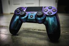 PS4 Controller - Purple-Green Metalic-Galaxy Hypershift-Custom Painted-New