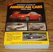 Standard Catalog of American Cars 1976-1999 Book James Flammang Ford Chevrolet