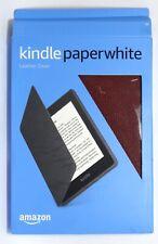 Amazon - Alle Neuen Kindle Paperwhite (10th Generation) Lederhülle - Merlot