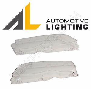 For BMW E46 4Door Sedan Wagon 2x Headlight Lens Left Right Plastic Cover for AL