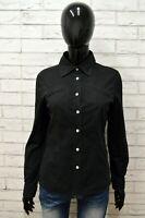 Camicia Donna FAY Taglia Size M Maglia Top Shirt Woman Chemise Cotone Nero