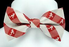 Alabama Crimson Tide Mens Bow Tie Adjustable College Logo Plaid Bowtie New