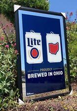 Miller Lite Ohio Map Beer Bar Mirror Man Cave Pub