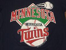 True Vintage 1988 Minnesota Twins Medium Navy T Shirt MLB 80s Fits Like Small