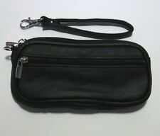 Double Eyeglass Case - Soft Leather Case - Removable Wrist Strap - Belt Loops