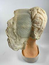 ANCIENNE COIFFE REGIONALE EN COTON PLUMETIS COSTUME FOLKLORIQUE H3015